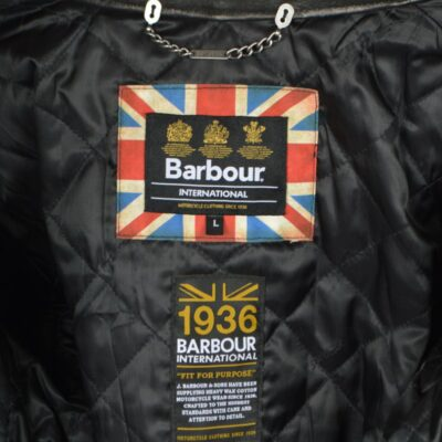 barbour jacket with logo