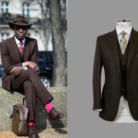 Cooler Business Tweed für Männer