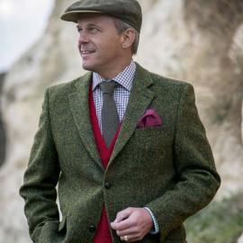 Eleganter grüner Anzug im Country Look für Herren